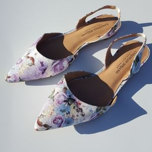 Christian Siriano | Purple Floral Flats size 9